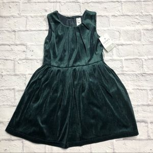 Carters Green velvet holiday dress size 5T
